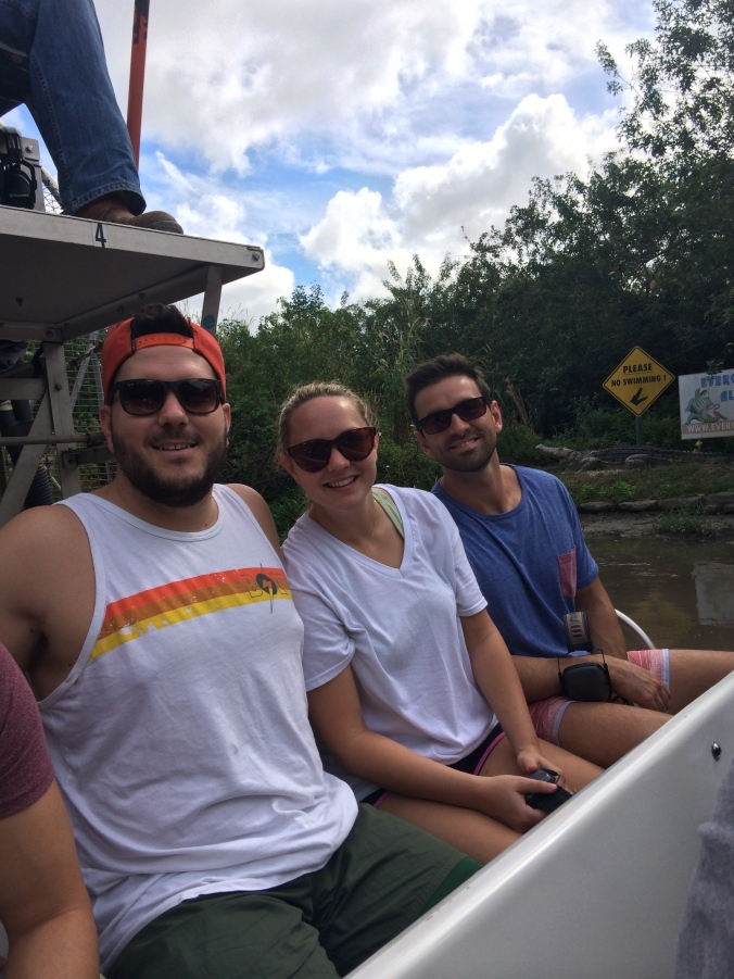 Airboat ride through the Florida Everglades.